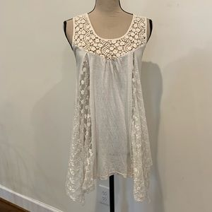 A'reve lace and crochet detail tunic
